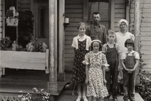 Rural family in Ohio by Ben Shahn, Farm Security Administration.
