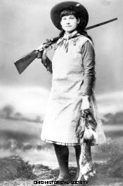 Photograph of sharpshooter Annie Oakley from SC 2787.