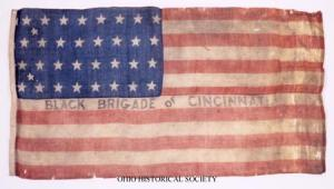 Black Brigade of Cincinnati Flag from the Ohio Battle Flag Collection.