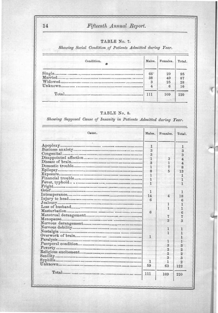 Annual Report of the Longview State Hospital, 1874