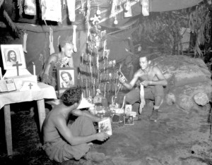 World War II Soldiers Celebrating Christmas Photograph