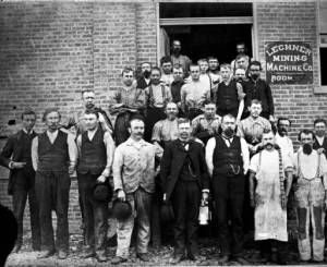 Employees of the Lechner Mining Machine Company from the Jeffrey Mining Collection at the Ohio Historical Society.
