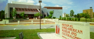 Exterior view of the National Afro American Museum and Cultural Center in Wilberforce, Ohio.