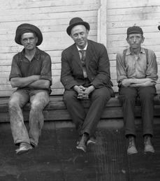 Photograph of a group of workmen by Albert J. Ewing.