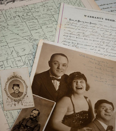 Examples of period manuscripts, maps and photographs at the Ohio Historical Society.