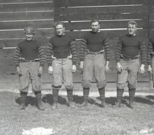 Group portrait of the Columbus Panhandles football team in 1907. The Panhandles were one of the first professional football teams to join the American Professional Football Association, later renamed the National Football League, when it formed in 1920. They operated as a professional football franchise from 1920-1922, then again from 1923-1926.