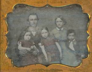 Daguerreotype portrait of an unidentified family.