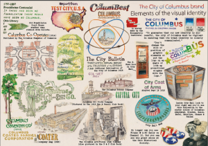 Artwork from Combing Columbus inspired by the Columbus Area Chamber of Commerce Records.