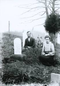 Family in Cemetery