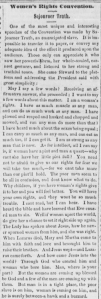 Transcription of Sojourner Truth's Women's Rights Convention speech from the June 21, 1851 issue of the Anti-Slavery Bugle (via Chronicling America).