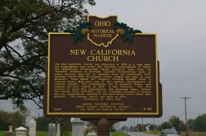 Ohio Historical Marker for New California Presbyterian Church.