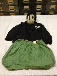 Mickey Mouse costume made by Myrtle Woodward of Columbus.