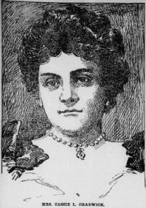 Drawing of Cassie Chadwick published in the Barbour County Index (January 4, 1905, image 7, col. 1 [via Chronicling America]).