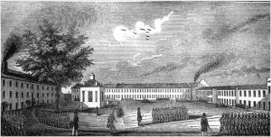 Scene at the Ohio Penitentiary Illustration (via Ohio Memory)