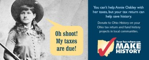 Annie Oakley Tax Check Off Advertisement