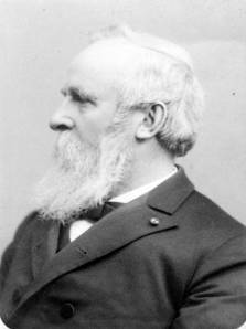 Portrait of Ohio Governor and U.S. President Rutherford B. Hayes by the Baker Art Gallery.