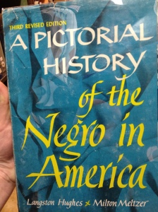 Cover of A Pictorial History of the Negro in America by Langston Hughes.