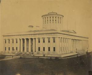 Photograph of the Ohio Statehouse, Columbus, Ohio, circa 1860s.