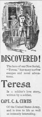 "Advertisement for ""Teresa"", a serial published in the Democratic Northwest and Henry County News in 1894-1895."