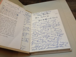 Annotation in one of his books.