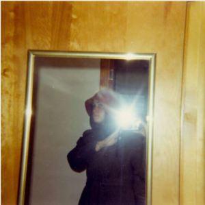 Self portrait of killed student, Sandra Scheuer.