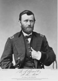 From the Ohio History Connection Archives. Portrait of Ulysses S. Grant taken in April 1865 after accepting General Robert E. Lee's surrender at Appomattox. Grant is wearing a black crepe mourning band on his arm in honor of President Abraham Lincoln after he was assassinated.