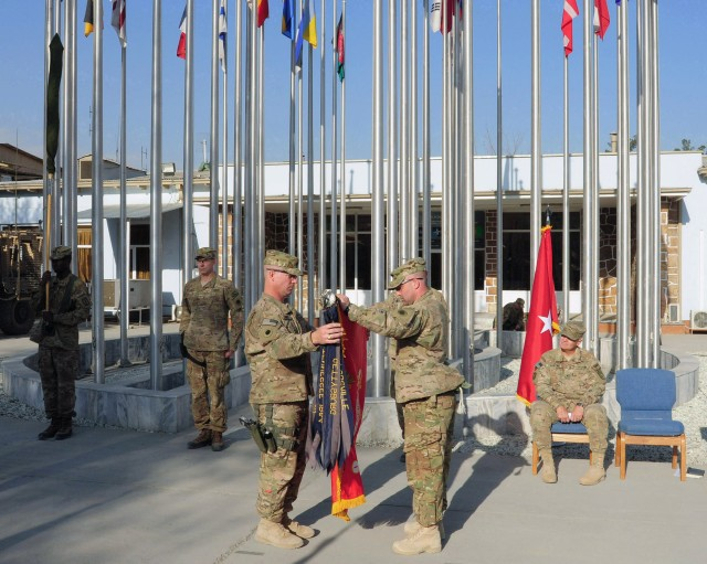 Security Forces Transfer of Authority Ceremony at Camp Eggers
