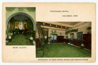 Inside of the Chittenden Hotel, Columbus, Ohio