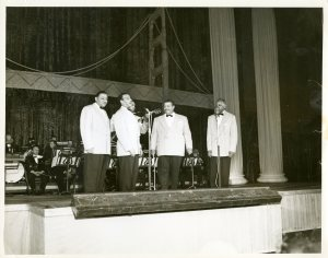 From the collections of the Ohio History Connection, the Mills Brothers, a music group from Piqua, Ohio.
