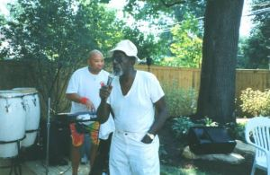 Courtesy of columbusmemory.org, Arnett Howard and Roman Johnson at Emerson Burkhart's home.