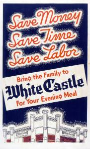 Example of poster advertising to families from the White Castle archives.