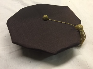 H 73976, a graduation cap worn by Steinem during the commencement ceremonies of her honorary 1987 Tufts University degree.