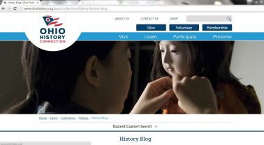 The History Collections new blog page!